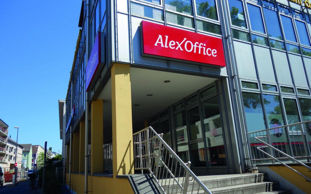 Eingangshalle des AlexOffice in Köln