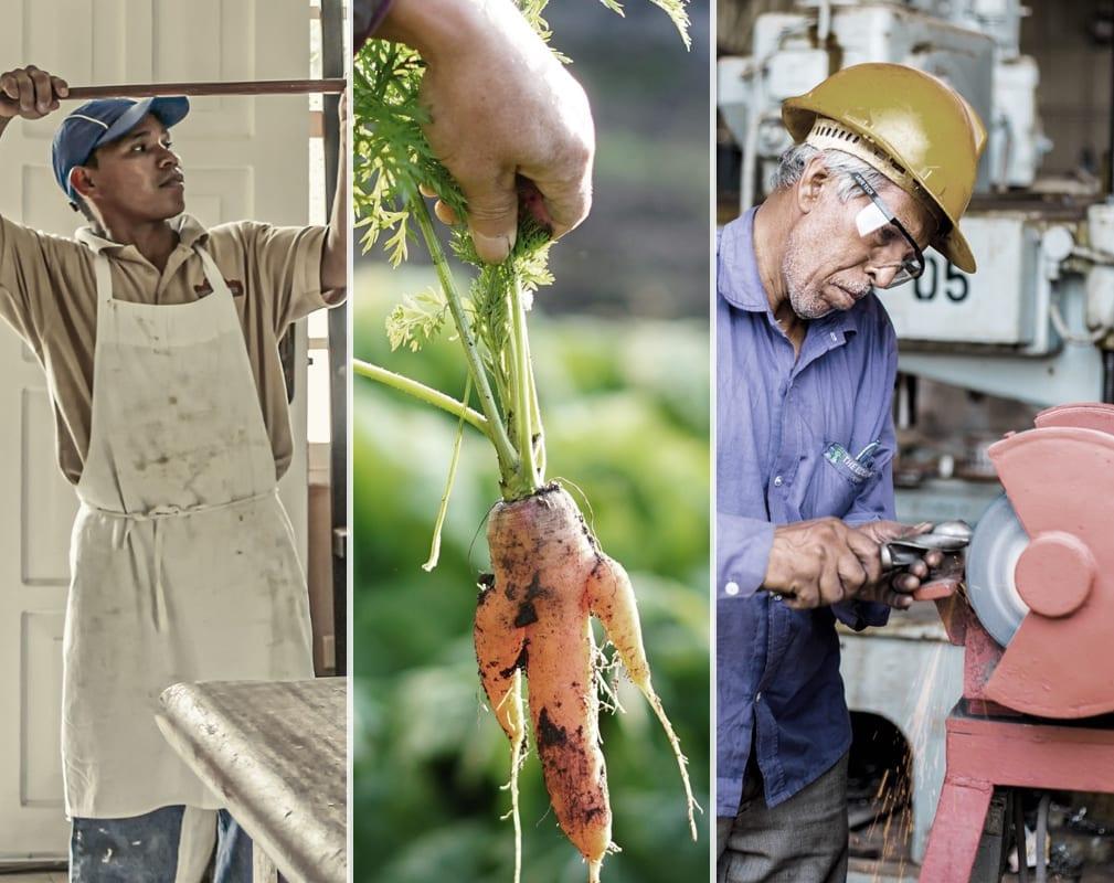 Menschen, die verschiedene handwerkliche Berufe ausüben