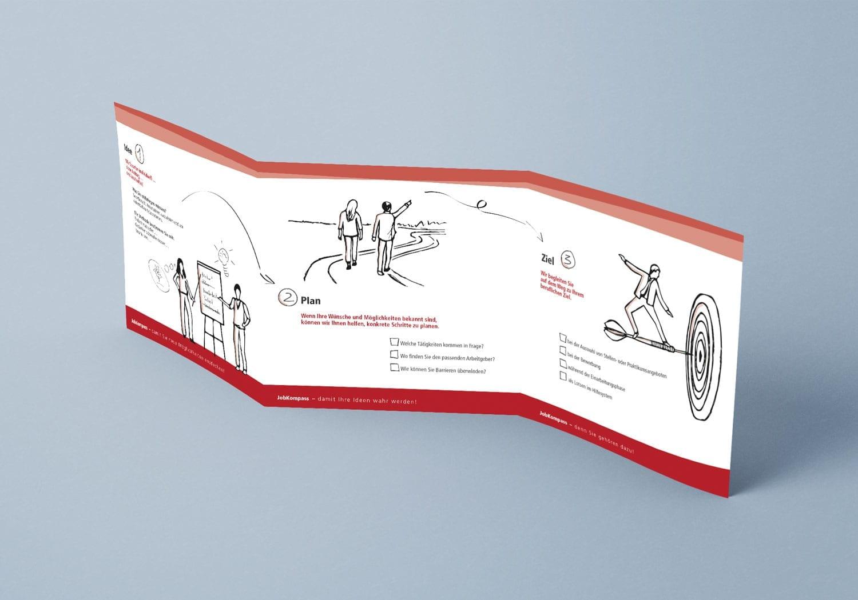 Ein Flyer über den JobKompass der Alexianer Werkstätten
