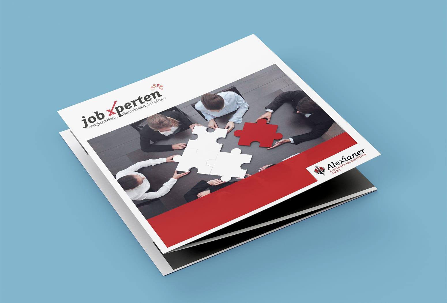 JobXperten Flyer für Unternehmer*innen