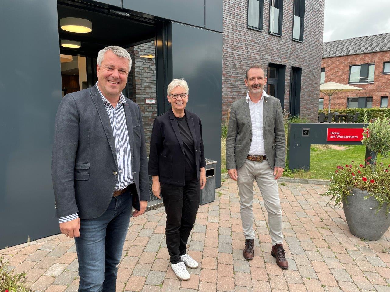 Maria Klein-Schmeink, Bundestagsabgeordnete der Grünen, besuchte die Alexianer auf dem Campus im Amelsbüren.